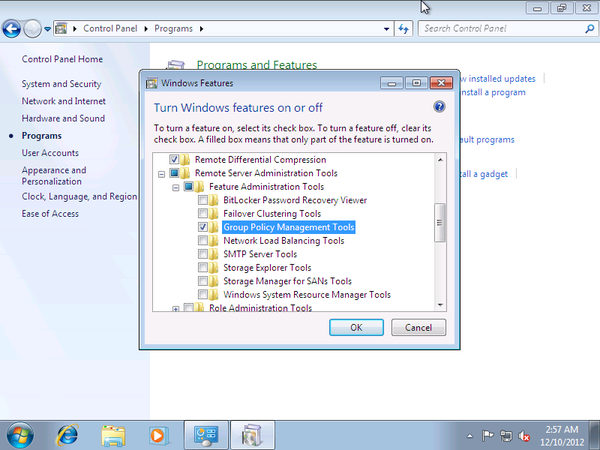 Activate group policy editor